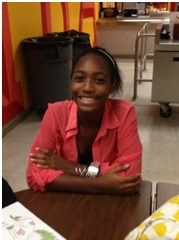 """Dianni Rice, sophomore """"The only difficulty was the time frame."""""""