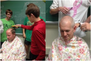"Cross Country Coaches Ed Faya and Gil Stange Receive a ""Free"" Hair Cut"