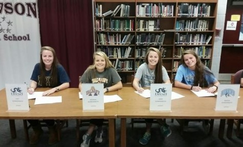 Three Seniors Sign Their Letters of Intent