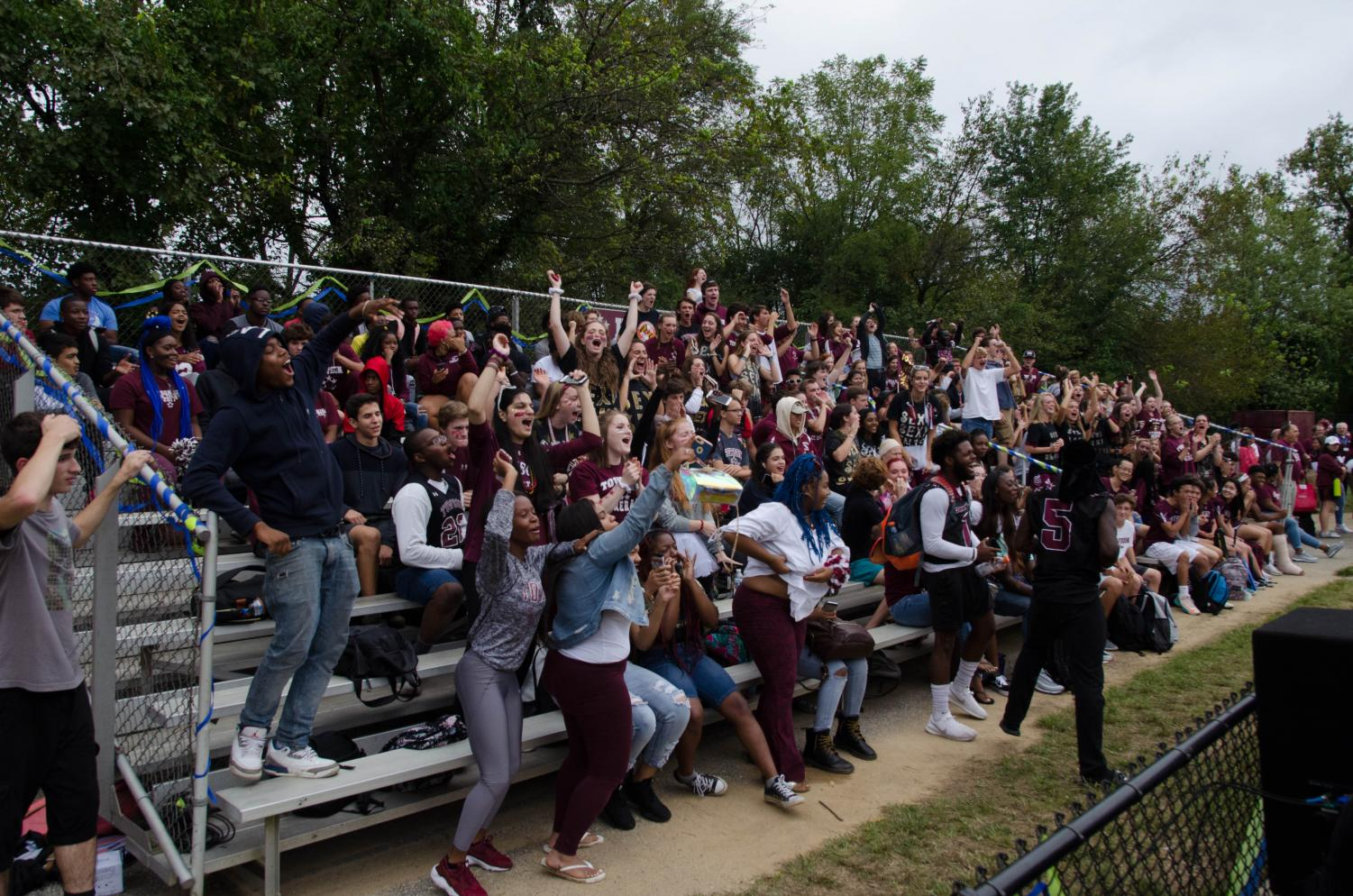 Look at our senior class go! They sure are full of school spirit!
